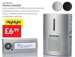 Wireless Doorbell - £6.99 LIDL (Silvercrest) - 3 Year Warranty - Just in time for Halloween