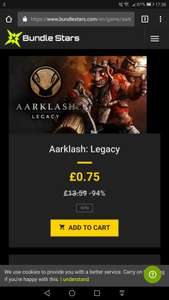 Aarklash: Legacy - Bundlestars Star Deal - 75p (94% Off) - Steam