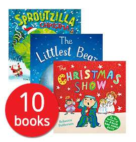 Santa's Bag of Books Collection - 10 Books  £8.79 / My Big Box of Christmas Stories Collection - 10 Books £10.39 & other Christmas Book Collections @ The Book People (with code) Delivery £2.95 or FREE if you spend over £25