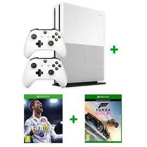 Xbox one s with fifa 18 & forza OR hotwheels plus 2 controllers £229.99 @ Smyths