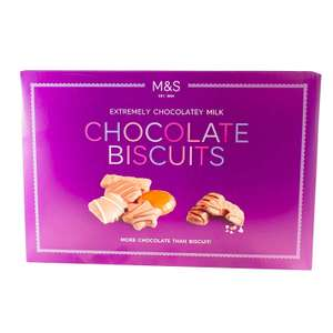 M&S Extremely Chocolatey Milk Chocolate Biscuits 500g (Purple Box) - Half Price £3 @ M&S instore (More chocolate than biscuit)