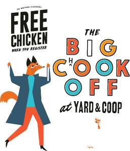 Free buttermilk chicken and chips at Yard & Coop Manchester 11 Oct & Liverpool 25 Oct