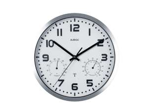 Auriol Radio-Controlled Wall Clock (with temperature and humidity dials) Lidl £7.99