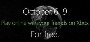Free Xbox live free play days 6-9 October