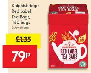 Lidl Knightsbridge Red Label Tea Bags 160 for 79p Weekend offer 14/15 Oct