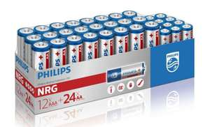 Philips Alkaline Pack - 24 x AA + 12 x AAA - £9.99 + free delivery from ebuyer