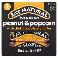 Eat Natural 3 x 45g peanut and popcorn bars 50p at Tesco Newmarket instore