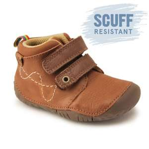 Upto 50% off  Sale on Kids Shoes, Wellies & Baby Shoes - Noah Tan Leather Boys Riptape Pre-Walkers £10 @ Start Rite Shoes