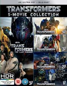 Transformers: 5-movie Collection (4K Ultra HD + Blu-ray) [UHD] £71.99 delivered with code SIGNUP10 @ Zoom.co.uk (4.04% Topcashback available too)