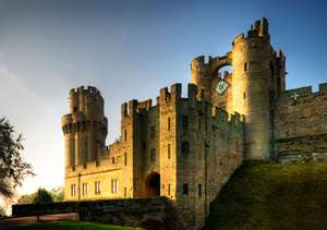 Kids Go FREE from £35pp on selected dates this Autumn. Packages include an overnight stay, breakfast and FREE second day Castle tickets @ Warwick Castle