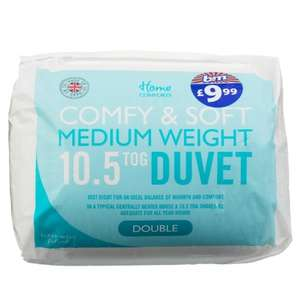 Home Comforts 10.5 Tog Double Duvet £10.99 at B&M