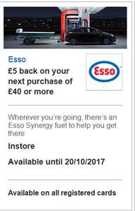 FIRST DIRECT & HSBC VISA OFFERS: £5 Off £40 Fuel Spend @ ESSO