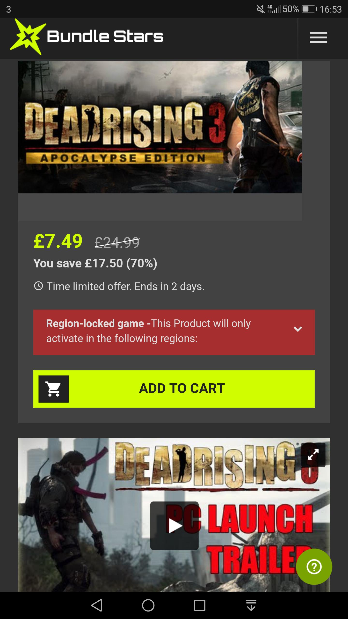 Dead Rising 3 Apocalypse Edition (Includes DLC) - £7.49 (70% Off) at Bundlestars - Steam