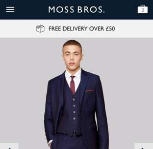 Suit Sale - £219 down to £97 @ Moss bros