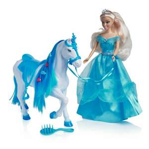 Wilko Play Princess Doll and Horse with Grooming Accessories £10