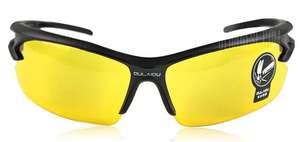 OULAIOU Sports Sun Glasses with Explosion-proof Function for Outdoors Use  -  YELLOW  YELLOW 70p @ GearBest
