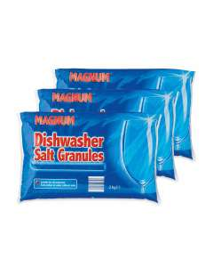 Magnum Dishwasher Salt 2kg x 3 Pack (so 6kg) = £ 2.67 @ Aldi (free delivery)