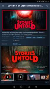 Stories Untold - Save 66% - £2.37 - Steam