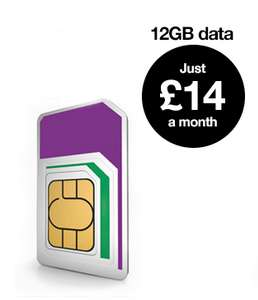 Retentions Deal - 3 sim only - 1 month rolling - advanced plan 30gb data 600 minutes unlimited texts - £14pm