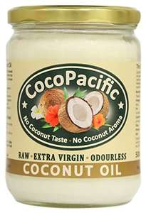 Odourless CocoPacific Virgin Coconut Oil for £4.61 Add On Item @ amazon (usually more expensive)