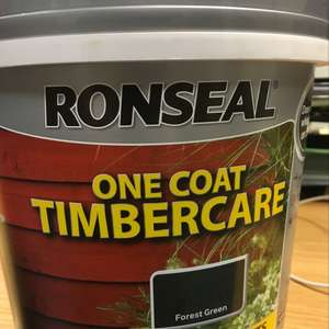 Ronseal One Coat Timbercare, Forest Green, 5l, £2.50 instore at Tesco (Forest Green)