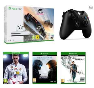 Xbox One S 1 TB + Forza Horizon 3 + FIFA 18 + Halo 5: Guardians + Quantum Break + Extra wireless controller £261.65 Online & In store @ Currys PC World