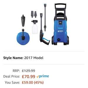Nilfisk C120 7-6 Patio and Brush Pressure Washer - Blue at Amazon for £70.99