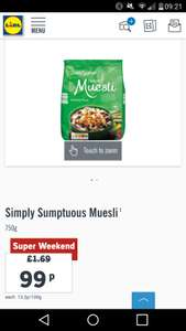 LIDL - Simply Sumptuous Luxury Muesli - 99p reduced from £1.69