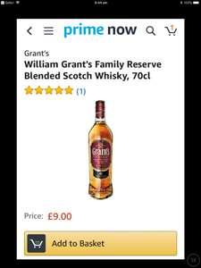 William Grants Family Reserve Whisky 70cl only £9 (!!) at Amazon Prime Now (min.. order £20)