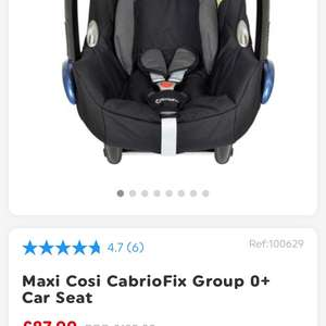 Maxi Cosi CabrioFix Group 0+ Car Seat at Smyths for £87.99