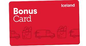 Iceland groceries - Bonus Card, free £1 for every £20 of your money loaded onto card.