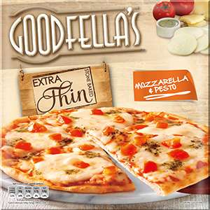319g Goodfella's Extra Thin Mozzarella & Pesto Pizza 2 for 1£ or 0.79£ each @ Farmfoods