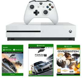 Xbox One S 500GB Console with Forza Horizon 3 + Forza Motorsport 7 + Overwatch GOTY £199.99 @ Game