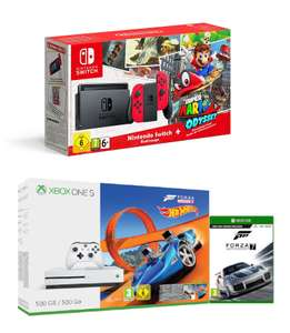 Nintendo Switch Super Mario Odyssey Limited Edition Bundle + Free T-shirt £296.99 with code @ Zaavi // Xbox One S 500GB + Forza Horizon 3 + Hot Wheels DLC + Forza Motorsport 7 £179.99
