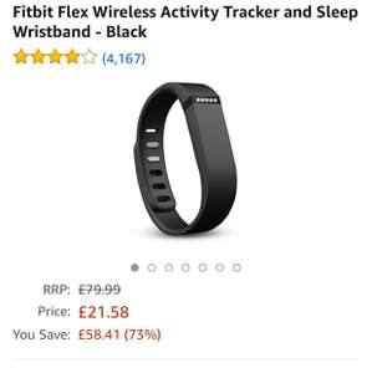 Fitbit Flex (1st gen) - £21.58 on Amazon Prime Now