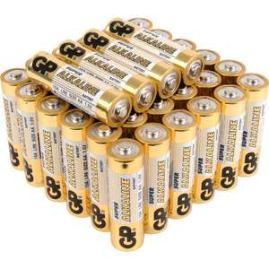 40 GP Alkaline AA batteries and AAA batteries discounted £6.99 @ Toolstation