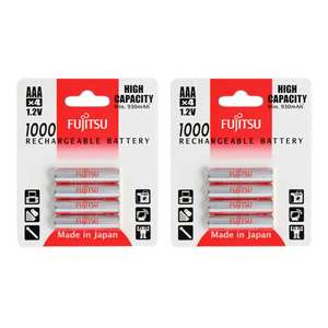 Fujitsu AAA HR03 Ready to Use NiMH Rechargeable Batteries 1000mAh - Extra Value 8 Pack (Made In Japan - Like Eneloop?) £11.79 Delivered @ 7dayshop