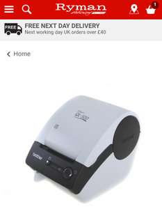 Brother QL500A Electronic Thermal Tag Label Printer £24.99 (Was  £49.99) Free delivery to store @ Ryman