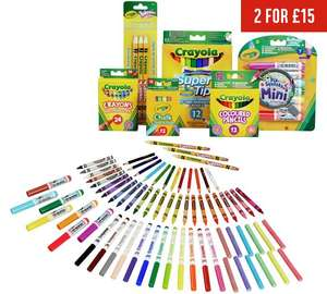 "Crayola 70 piece stationery set at Argos £11.99, 140 piece for £15 using ""2 for £15"" promo"