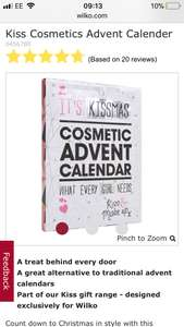 Kiss cosmetics  makeup advent calendar - £5 from wilko