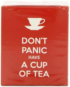 New English Teas Slogans Range Don't Panic and Have A Cup of Tea Teabags Carton (Pack of 6, Total 60 Teabags) £1.66 (Add-on Item) @ Amazon