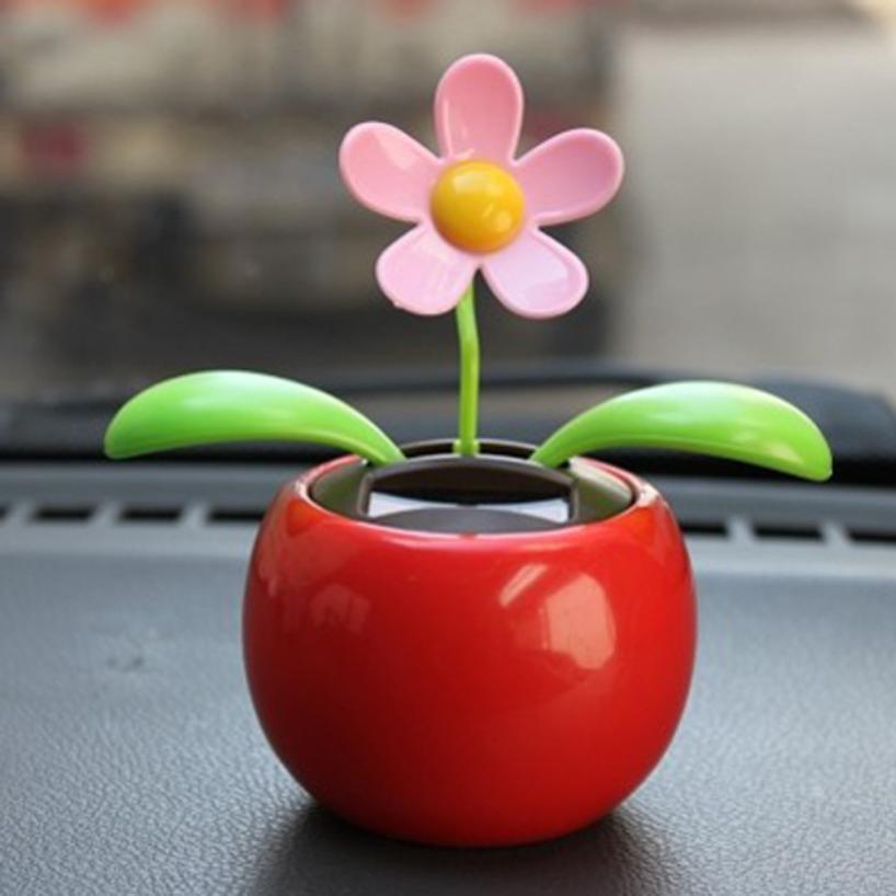 Car Decoration Solar Power Dancing Flower - PINK - 36p @ GearBest