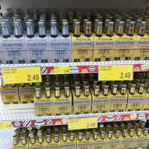 Fever Tree Tonic 4x200ml - £2.49 instore @ B&M