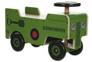 Kiddomoto Wooden Ride On Army Truck £10 @ Halfords (C&C Only / See OP for list of stores)