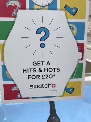 Buy a Swatch watch and get a surprise watch when you add £20.00