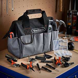 Heavy Duty Tool bag +92 Tools, was £44.99 now £19.99 +£2.99 Delivery - Dispatched and sold by DOMU UK / Amazon
