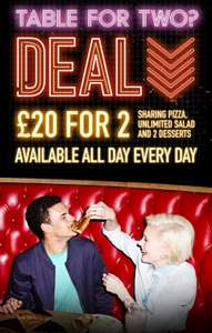 Pizza Hut £20 for 2 Meal Deal