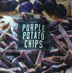 Iceland Purple Potato Chips 600g 25p
