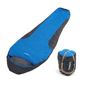 TOMSHOO Outdoor Mummy Sleeping Bag 3 - 4 Season Lightweight Compact - £17.99 at Amazon with 40% off promo (PRIME and NON-PRIME members!) Sold by TOMSHOP. and Fulfilled by Amazon