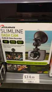 Accelerate Slimline dashcam 1080p - Home Bargains Reading Instore @14.99